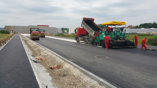Completed construction and modernization of roads in the Industrial Zone II
