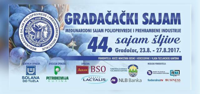 P R O G R A M                       44. Međunarodnog Sajma poljoprivrede i prehrambene industrije                                                              - Sajma šljive u Gradačcu